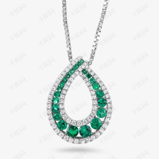 心形绿宝石项链