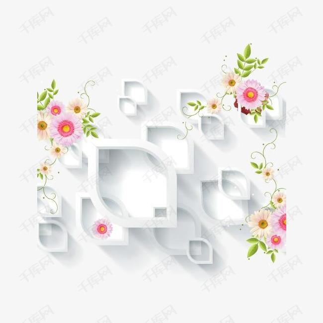 花朵电视背景墙