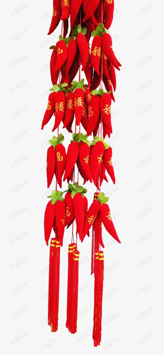 红色辣椒中国结