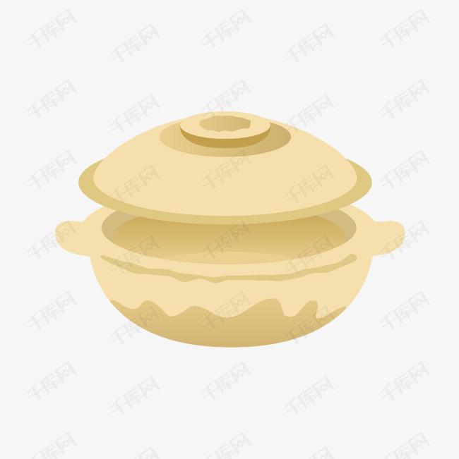 卡通美食砂锅