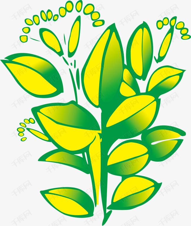 卡通手绘清新树叶