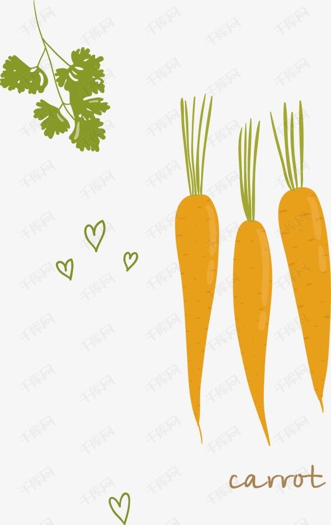 卡通手绘蔬菜红萝卜