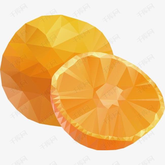 卡通马赛克精美橙子