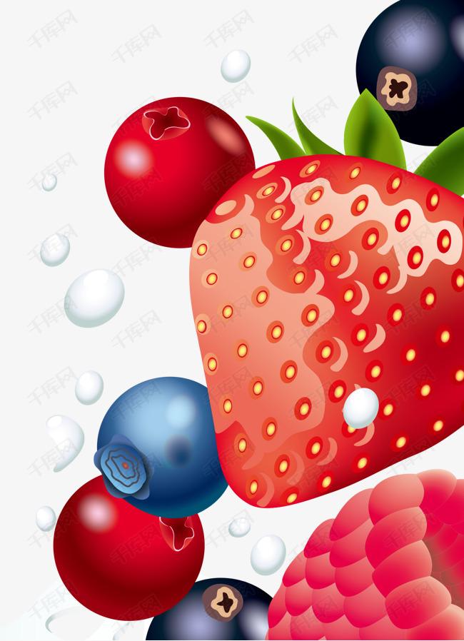 水果草莓蓝莓桑葚牛奶