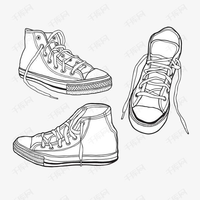 手绘鞋子矢量