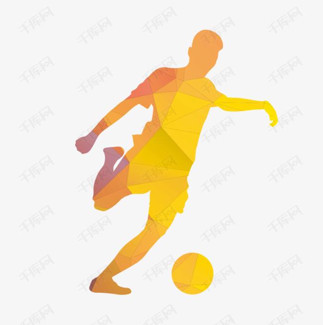 踢足球的运动员