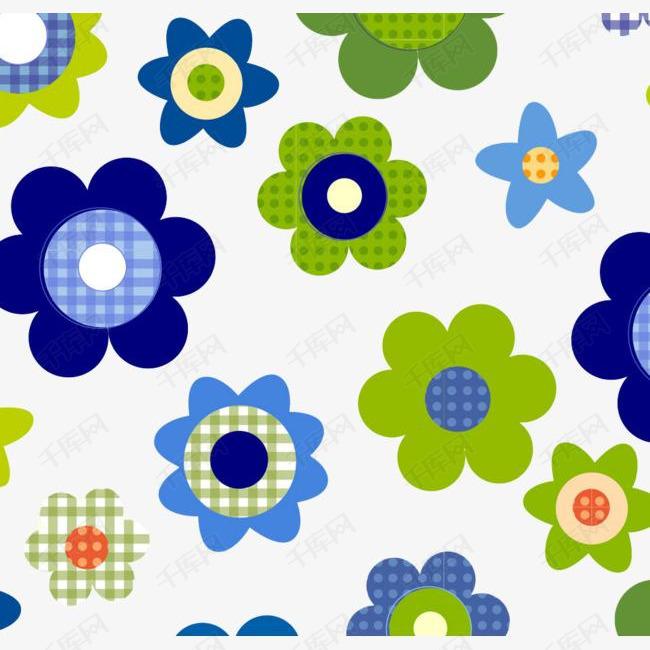 清新大方的花朵图案