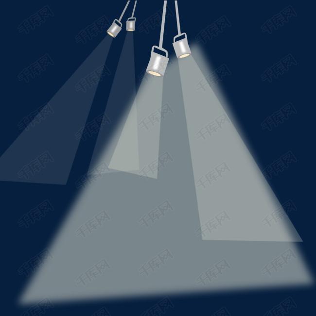 矢量灯光照射