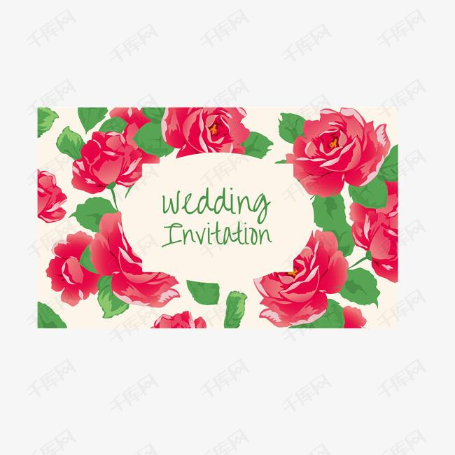 花卉卡片矢量素材