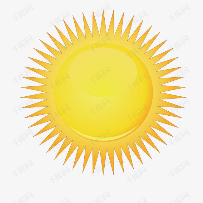 矢量黄色灿烂太阳光芒