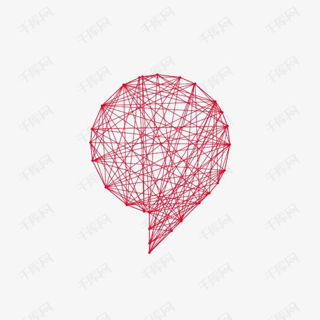 红色的线抽象实体