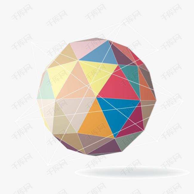 矢量彩色拼接球