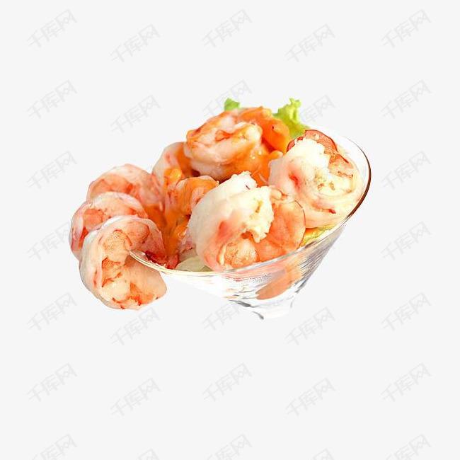 玻璃碗装的龙虾