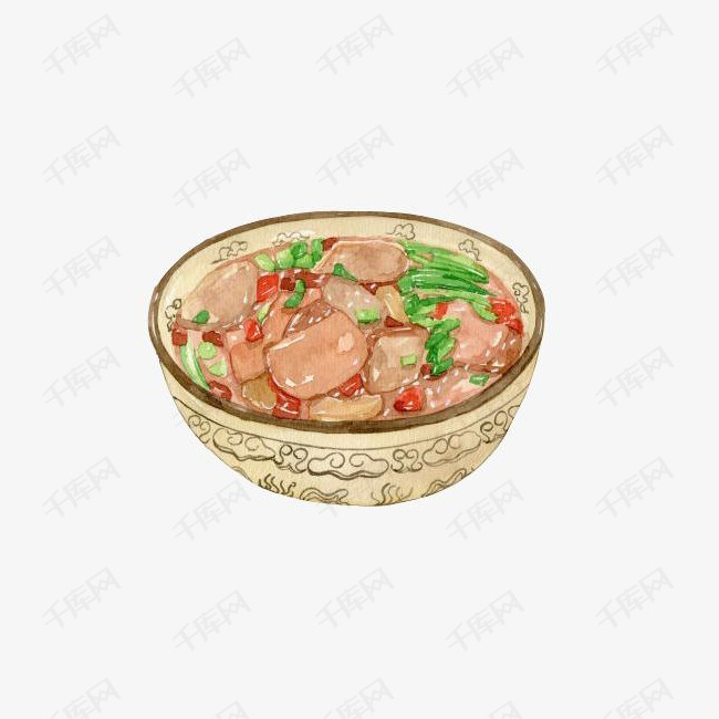 鸭血豆腐手绘画素材图片的素材免抠豆腐鸭血毛血旺手绘美食