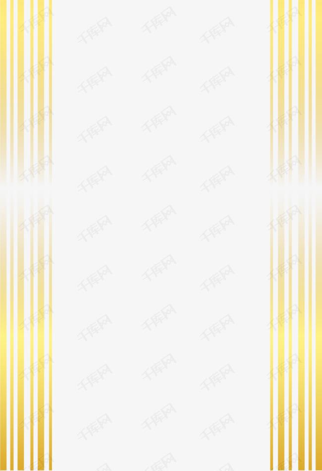 矢量手绘金色边框