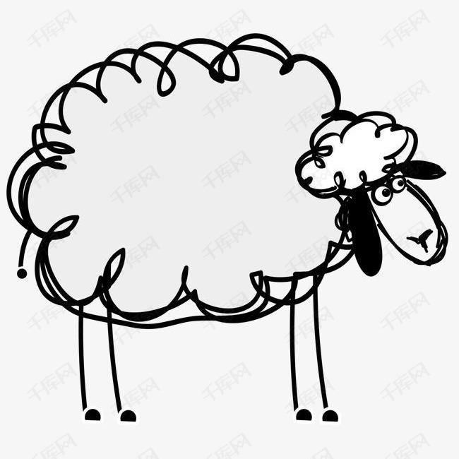 简笔画小羊矢量素材图片免费下载 高清图片pngpsd 千库网 图片编号7399630