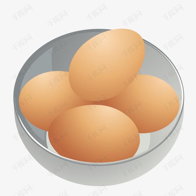 矢量一碗鸡蛋