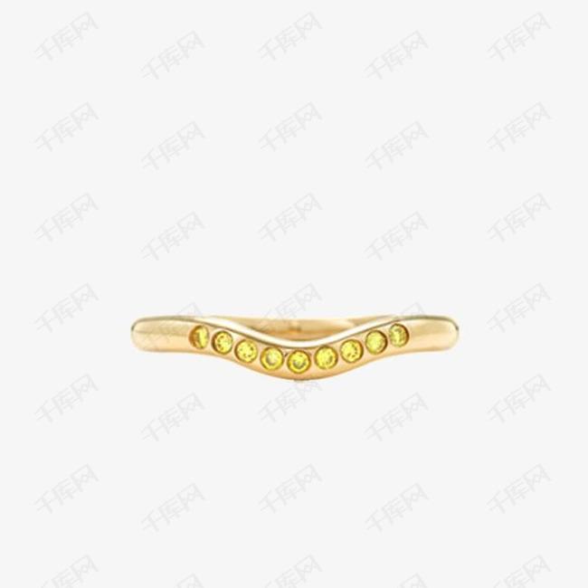 蒂芙尼奢华18K金镶黄钻婚戒指