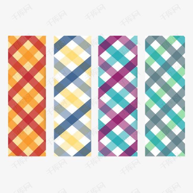 彩色方格条纹