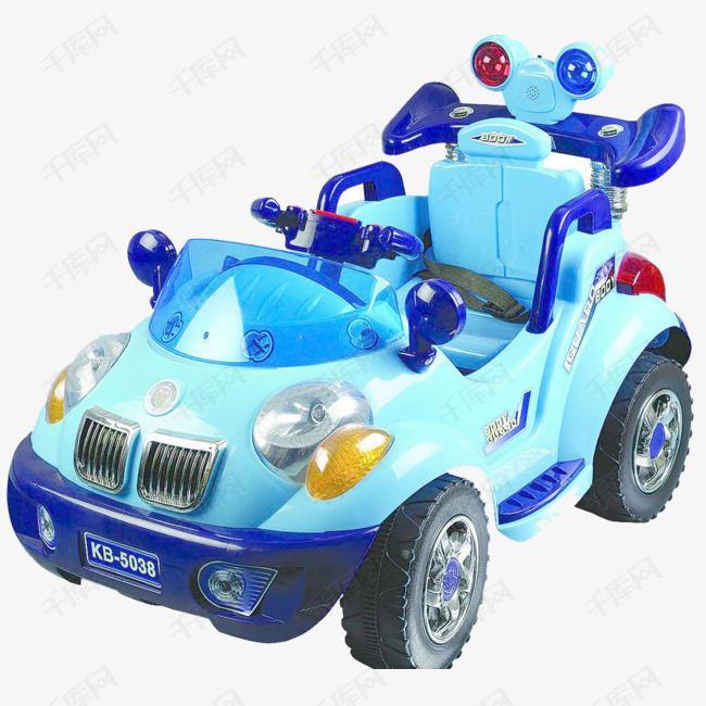 蓝色玩具车