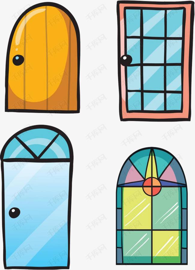 手绘彩色门窗