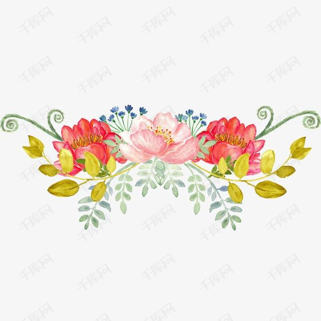 手绘花卉的素材免抠花卉手绘手绘花卉飘落牡丹月季花玫瑰花花卉设计唯美花卉水彩花卉水墨花卉