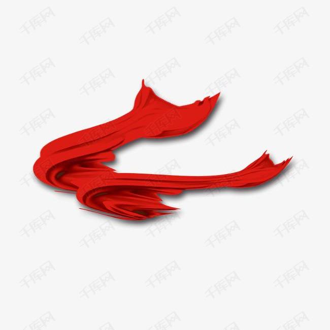 半折叠红色布条装饰