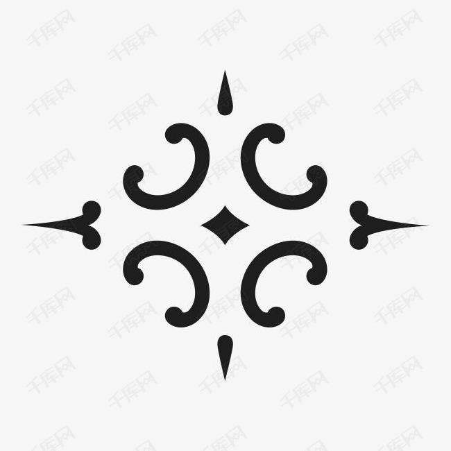 角花底纹花型对称平面图形图片