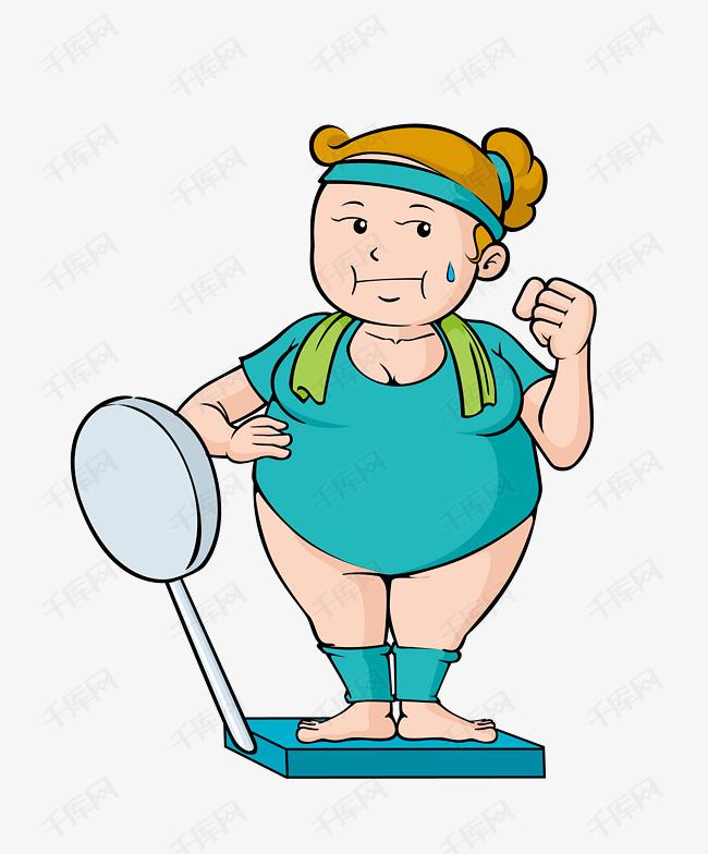 卡通现代女士健身矢量图
