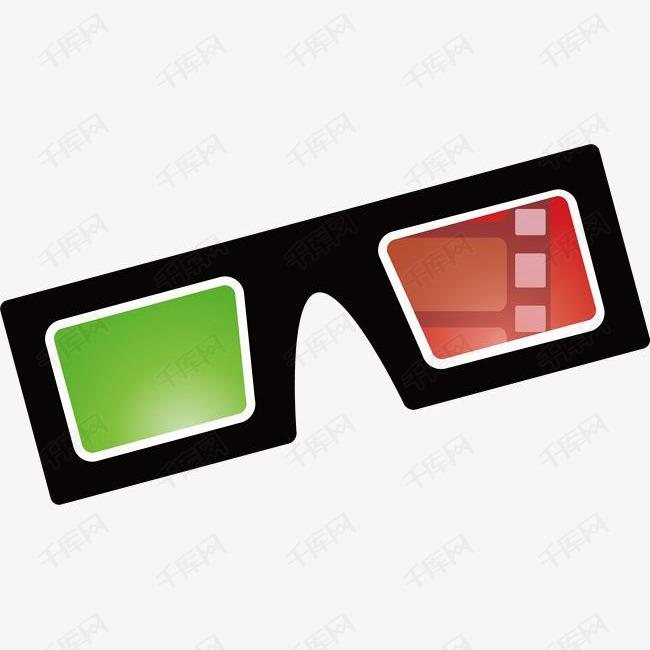 电影3D有色眼镜
