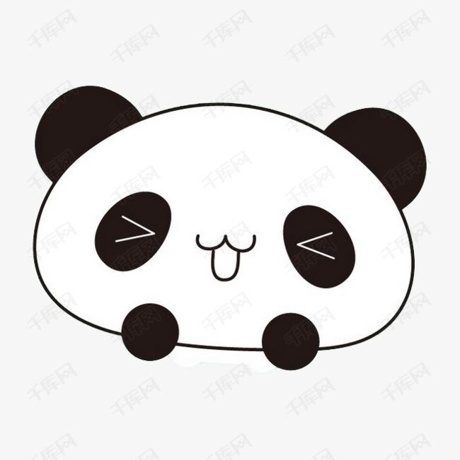 简笔画熊猫素材图片免费下载 高清卡通手绘png 千库网 图片编号7404985