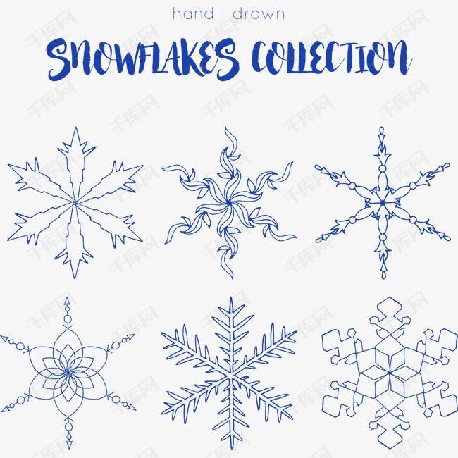 圣诞节蓝色雪花