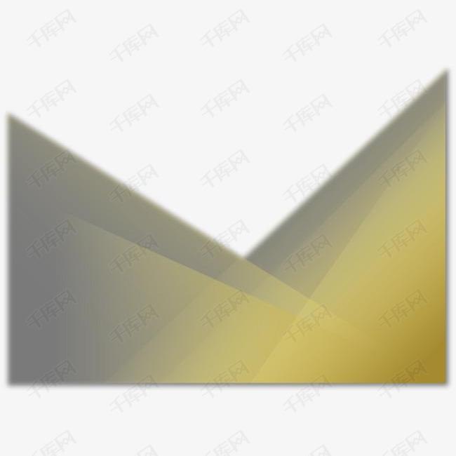 矢量金色三角图案