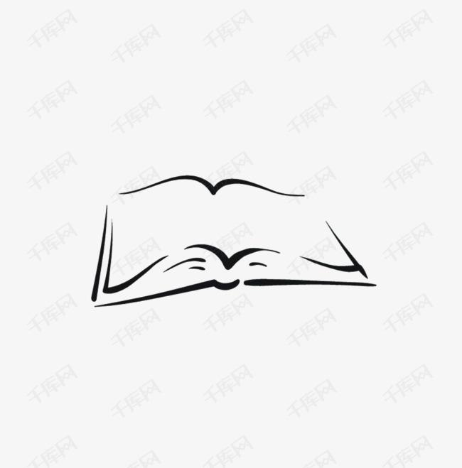 手绘书本素材图片免费下载 高清装饰图案png 千库网 图片编号7451425