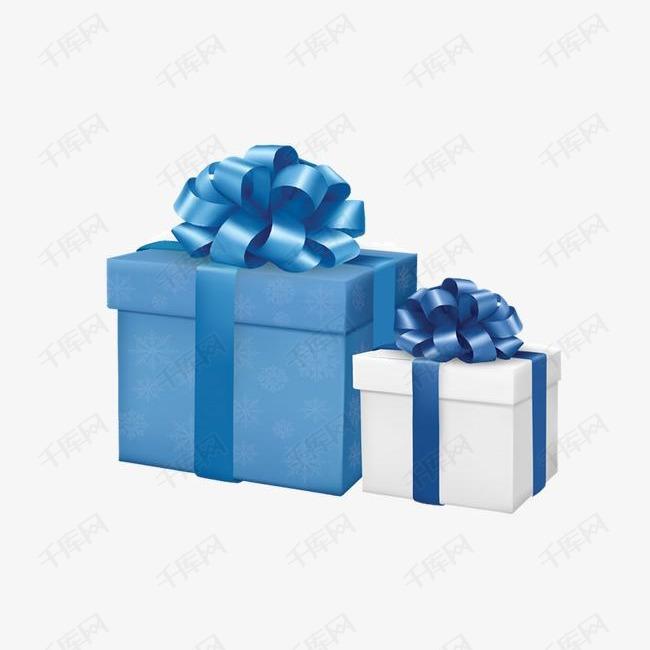 蓝白色礼盒组合