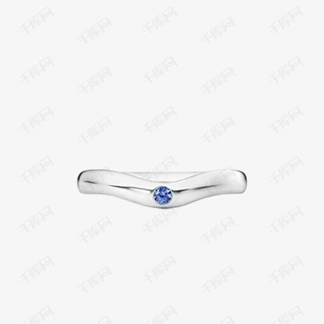 蒂芙尼纯银坦桑蓝宝石细戒指