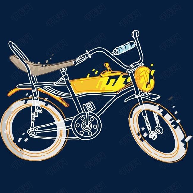 精致手绘自行车