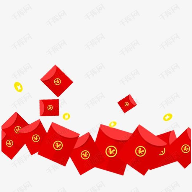 红包雨素材图片