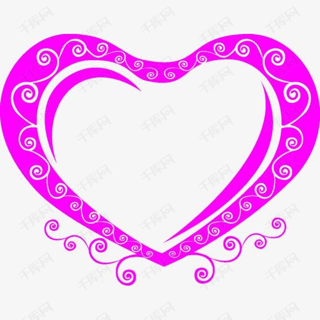 紫色装饰爱心设计