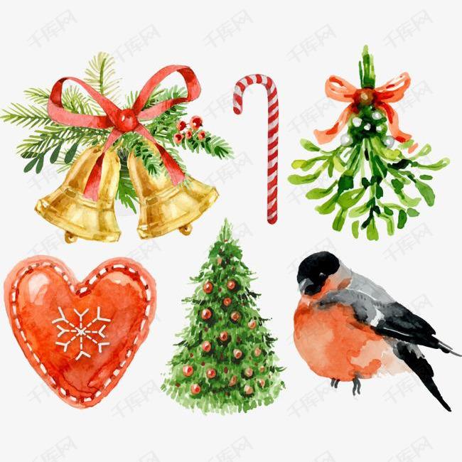 圣诞节小鸟与铃铛
