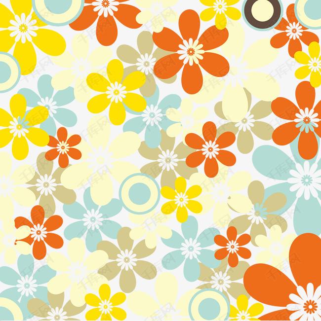 花朵背景图矢量