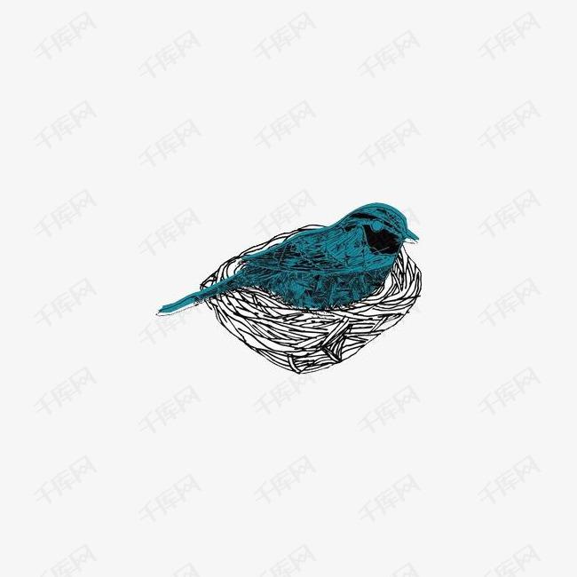 手绘鸟和鸟巢素材图片免费下载 高清png 千库网 图片编号8267850