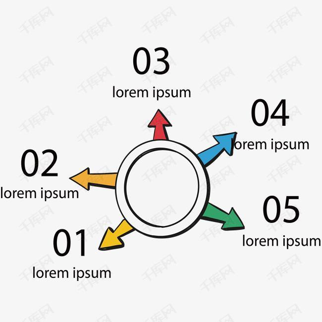 总分结构箭头信息图表