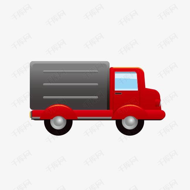 红色物流汽车