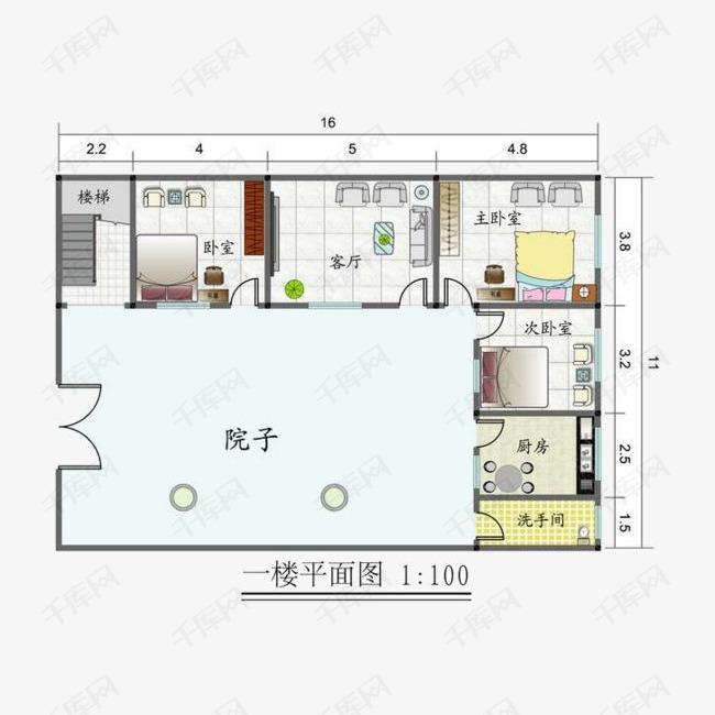 农村房屋室内平面图