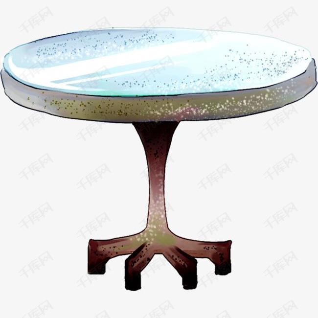 可爱插画设计圆桌