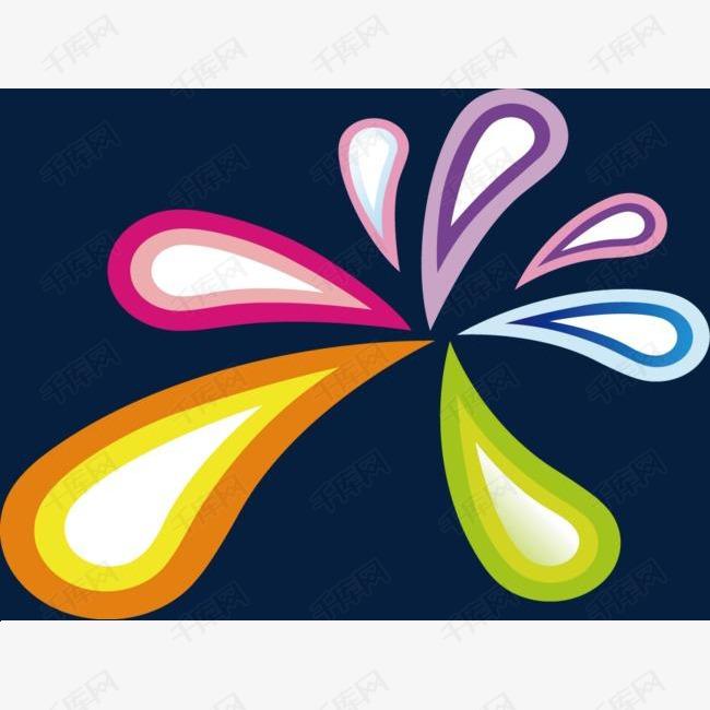各种颜色的花瓣
