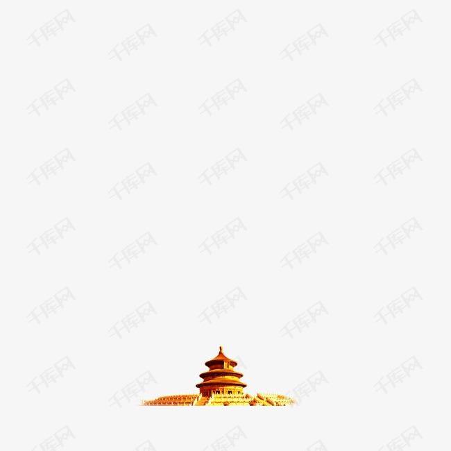 金色天坛装饰