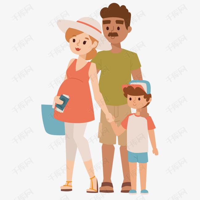 孕妇与父子