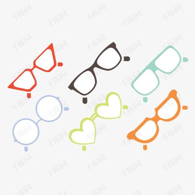 创意星星眼镜素材